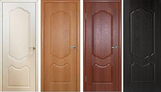 Двери с покрытием из ПП