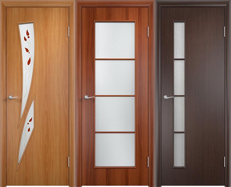 Двери с пленочным покрытием