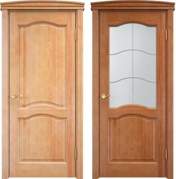 Двери из соснового массива