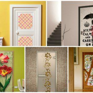Как и чем украсить межкомнатную дверь: ТОП-10 оригинальных способов декорирования